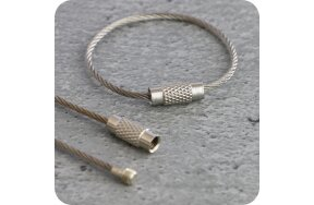 WIRE ROPE CONNECTOR WITH SCREW